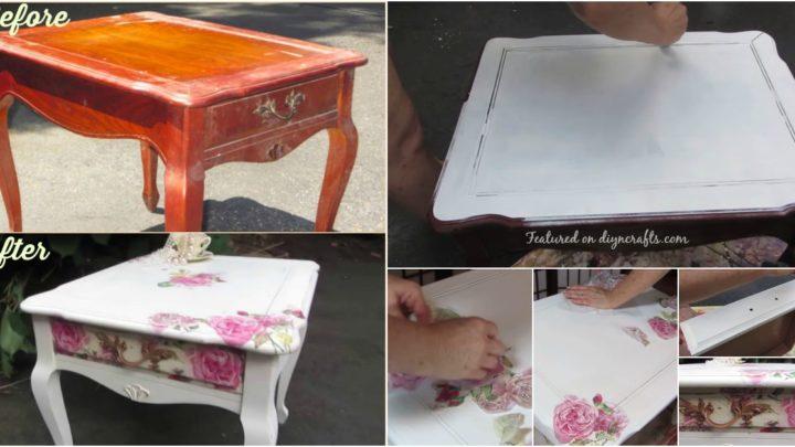 Ez asszony sajnálta kidobni a nagymamája kis asztalkáját, jól döntött csodás dolog született belőle